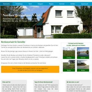 Nordsee Ferienhaus Varel